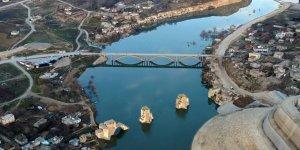 Tarihi Hasankeyf'te sular yükselmeye başladı