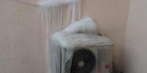 Hakkari'de klima buz tuttu