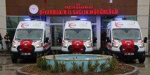 Diyarbakır'da 3 acil yardım ambulansı hizmete girdi