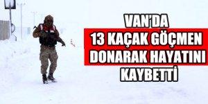 Van'da 13 göçmen donarak öldü