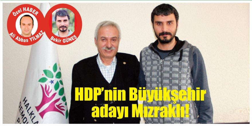 HDP'nin Diyarbakır adayı Selçuk Mızraklı