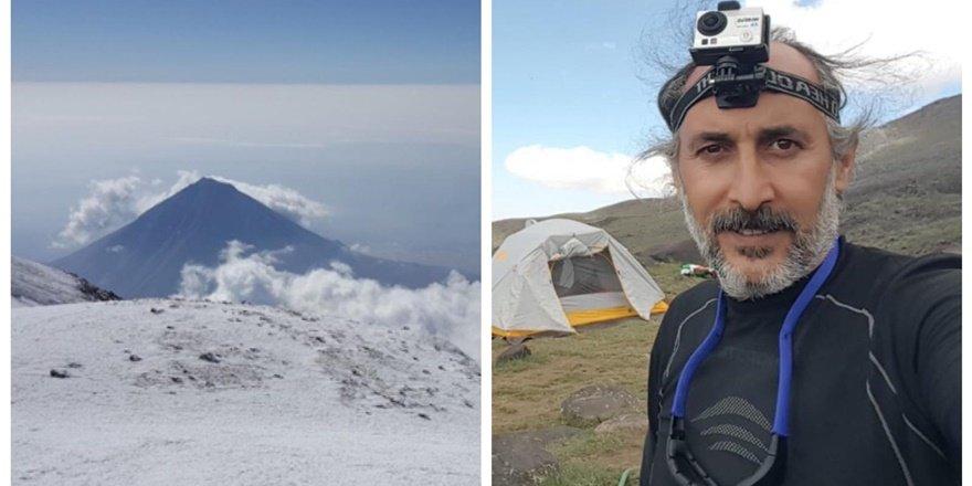 Diyarbakırlı dağcı Ağrı zirvesinde dünya rekoru kırdı