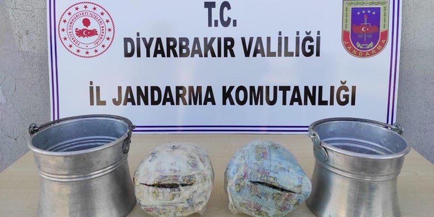 Diyarbakır'da yoğurt kovasında uyuşturucu