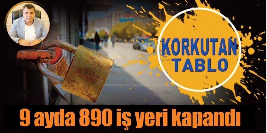 Diyarbakır'da 9 ayda 890 iş yeri kapandı