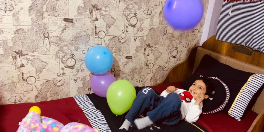 Diyarbakır'da yetim çocuğa yatak odası sürprizi