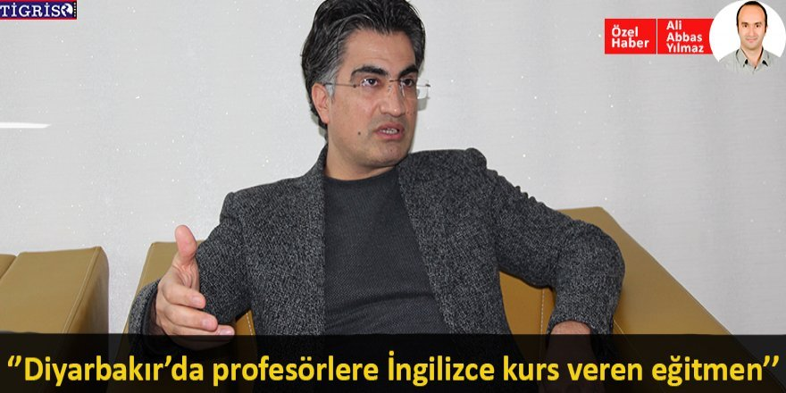 Diyarbakır'da profesörlere İngilizce kurs veren eğitmen
