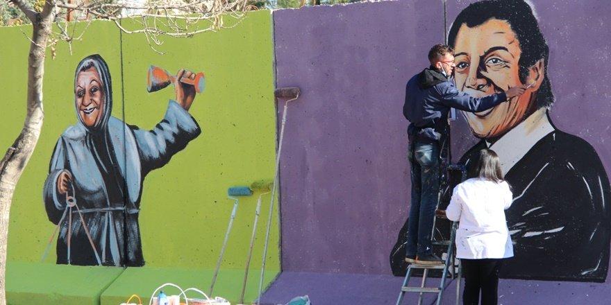 Diyarbakır duvarlarında Yeşilçam esintisi