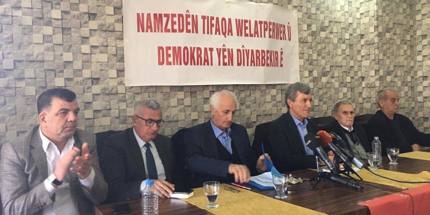 Yurtsever Demokrat İttifak, Diyarbakır adaylarını tanıttı