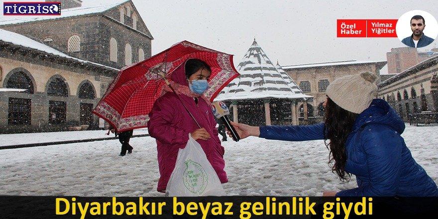 Diyarbakırlı vatandaşların kar yorumu